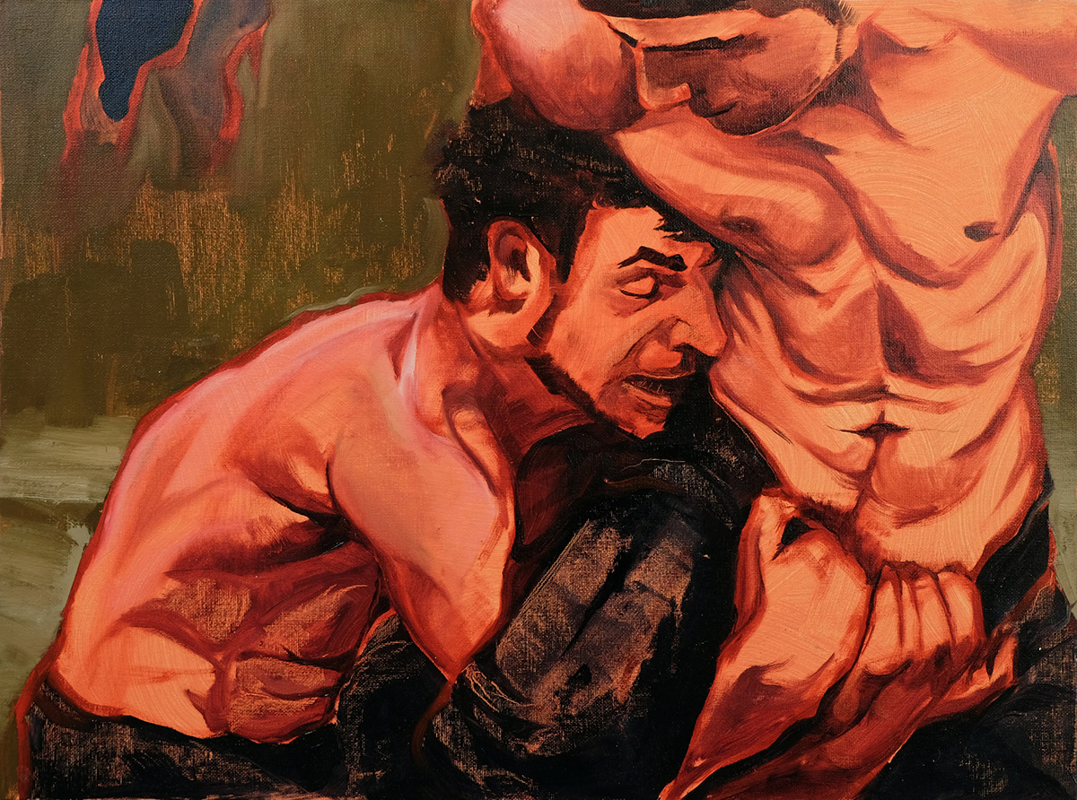 painting   oil paint series masculinity Homoeroticism