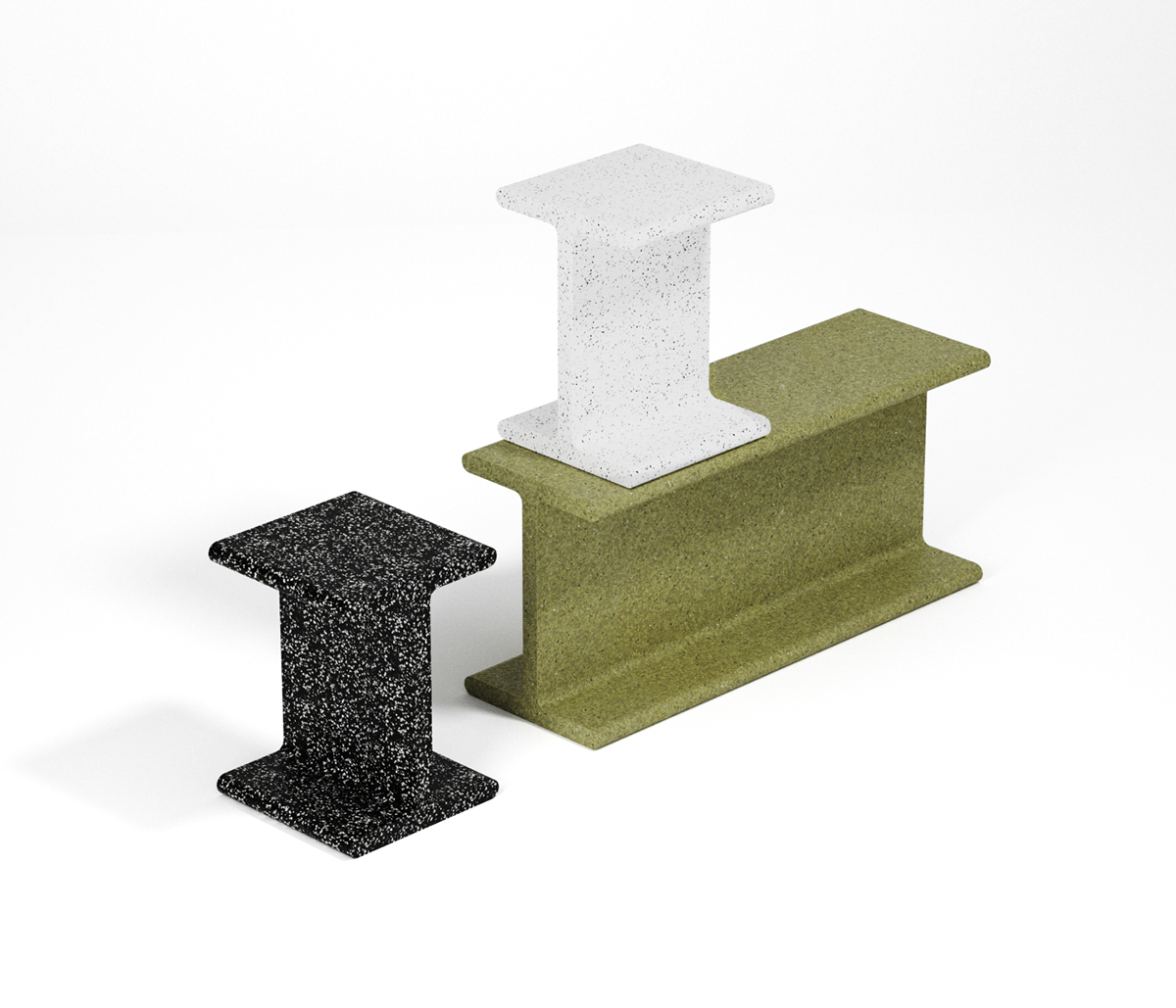 furniture furniture design  industrial plastic product product design  recycle recycling Render stool