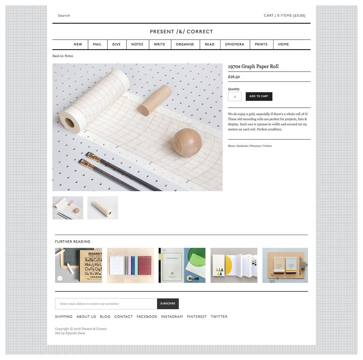 Present & Correct Website Shopify Stationery design The Printer's Son