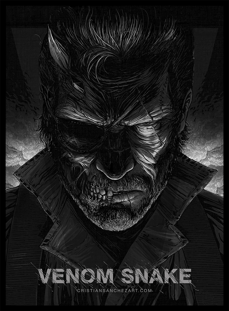 Venom Snake Metal Gear Solid By Cristian Sanchez On Behance