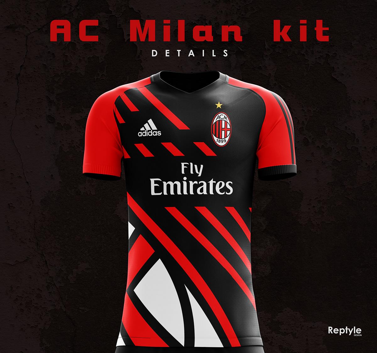 uk availability 5bcfe c4641 AC Milan kit concept on Behance