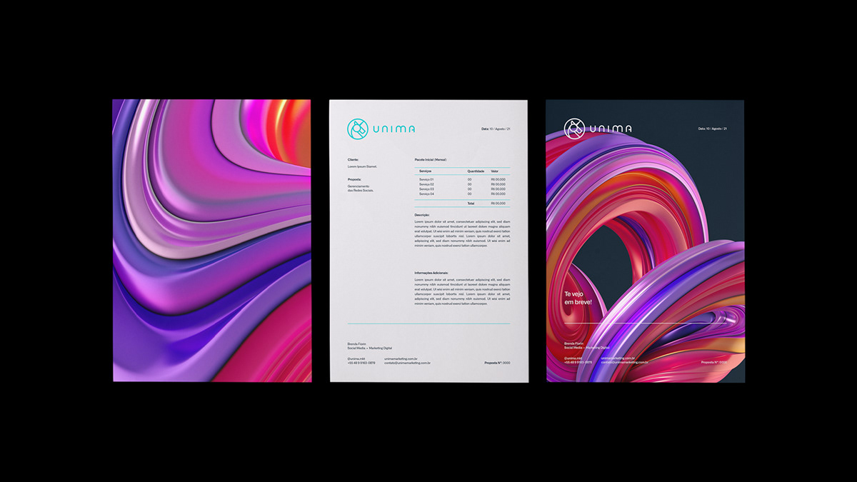 agency branding  business corporate digital identity logo marketing   unicorn
