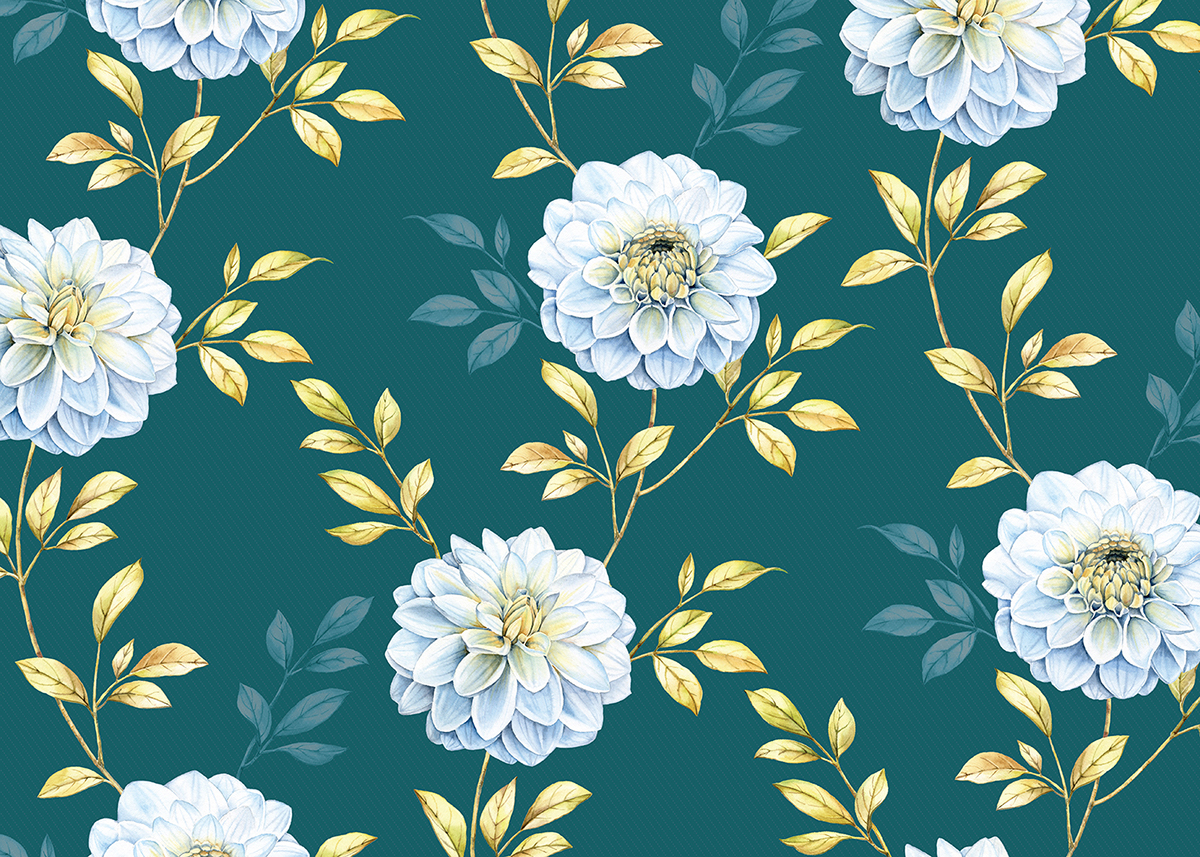 Floral Patterns And Illustrations For Royal Insignia On