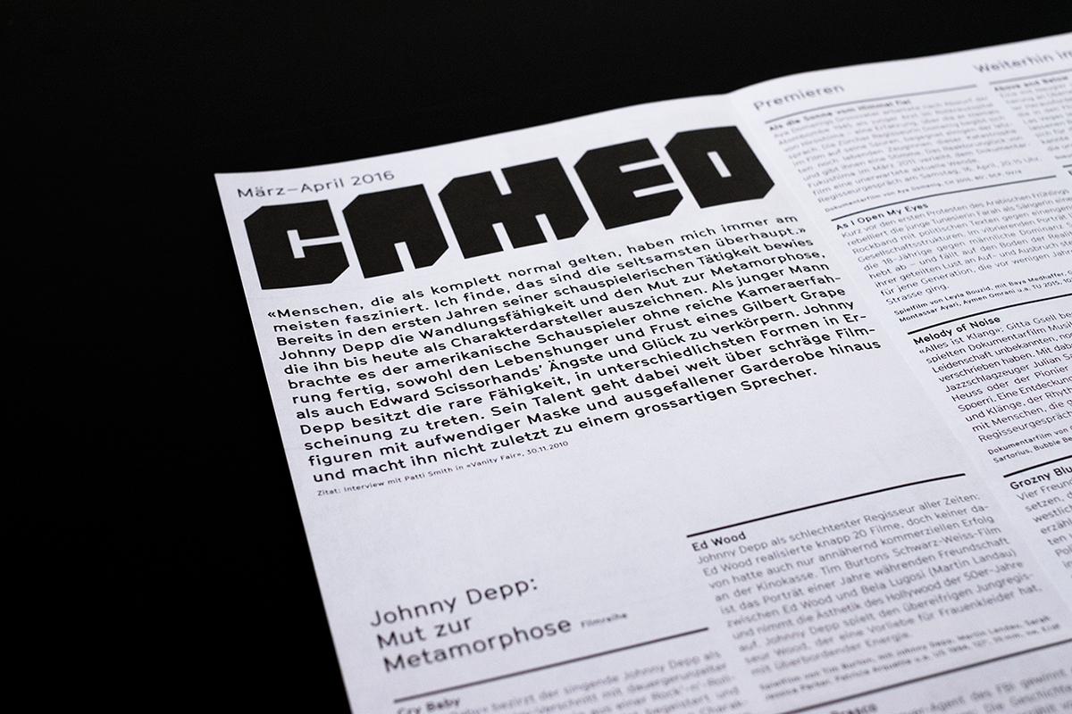 flyer poster plakat logo Programmflyer Beschriftung branding  identity typography   bold
