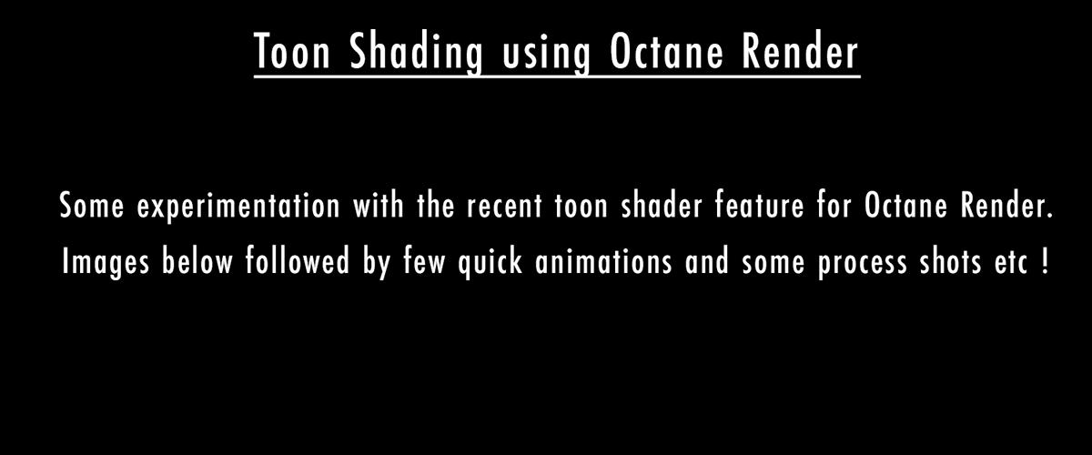 Toon Shading using Octane Render   Andrew Monks on Behance