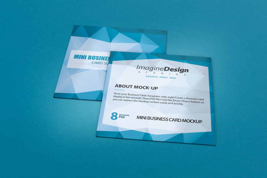 Mini business card mockup on behance flashek Image collections