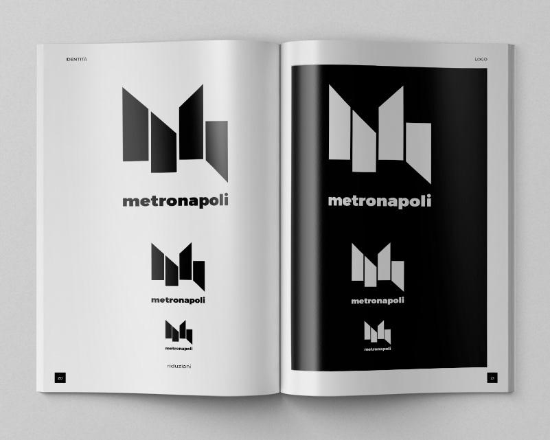 metro metropolitana NAPOLI logo design amato graphic design  Corporate Identity