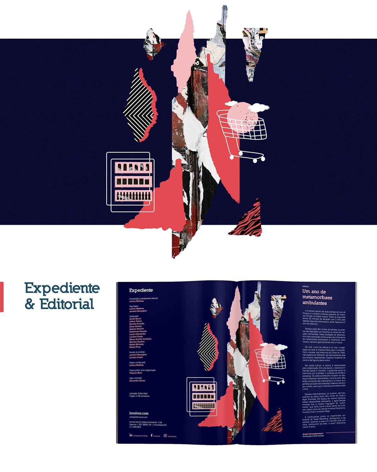 revista involves magazine LGBT Diversity diagramação collage manipulation Recorte ILLUSTRATION