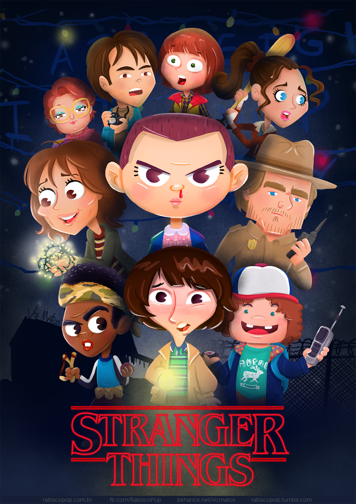 Stranger Things Character Design Amp Illustration On Behance