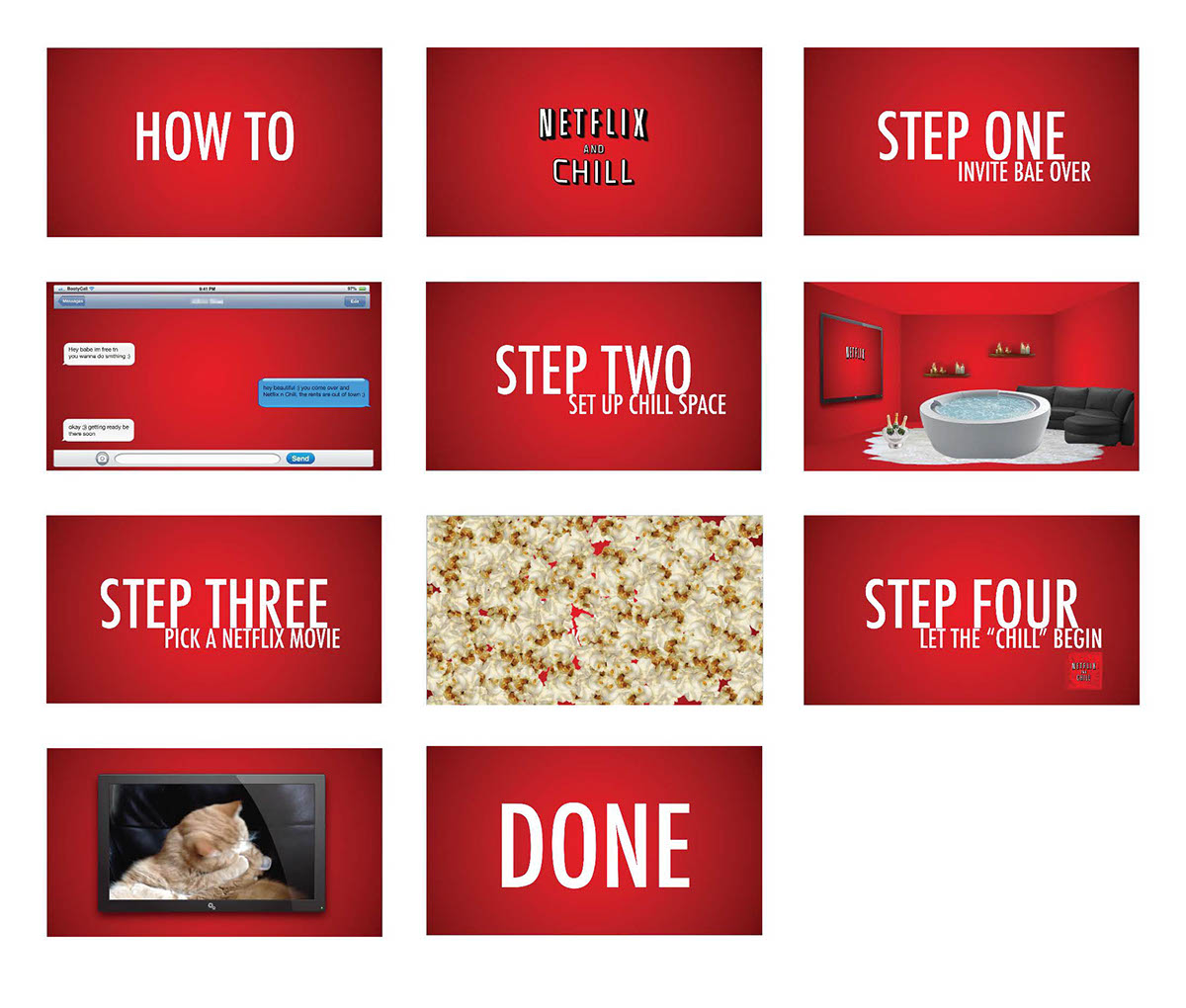 How To: Netflix and Chill on Behance
