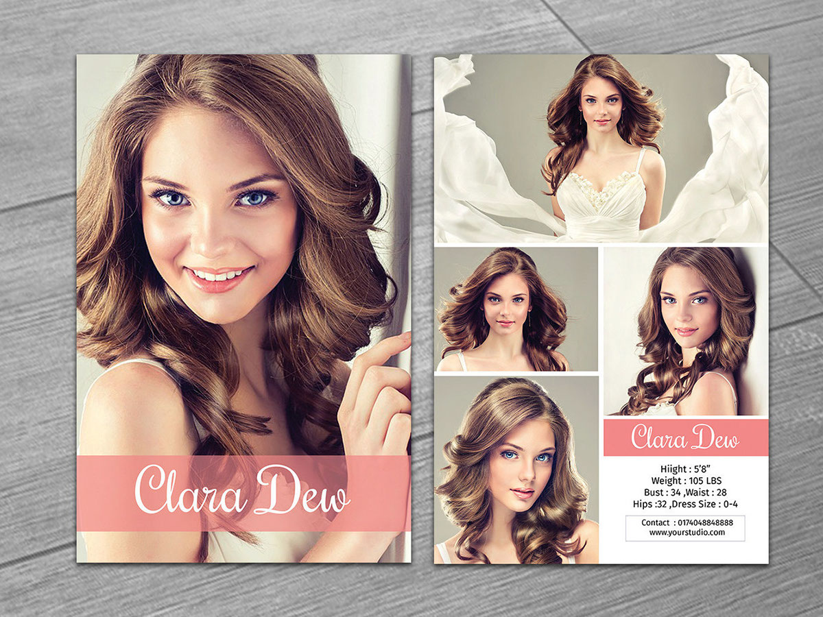 Model Comp Card on Behance In Download Comp Card Template