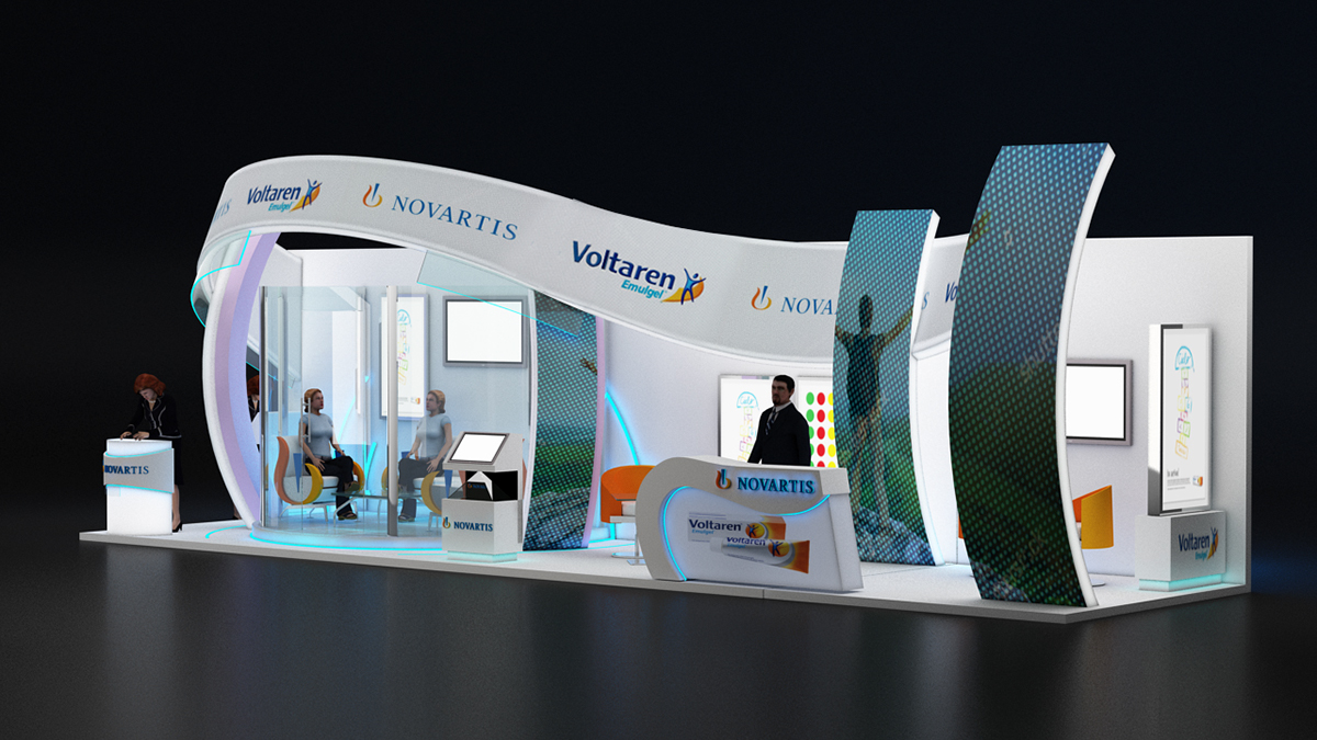 Exhibition Stand Production : Uae novartis booth on behance