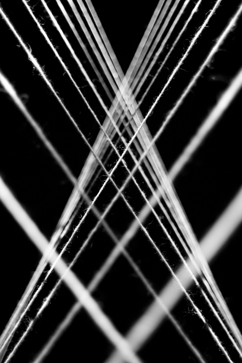 Threads strings projection light wool Mapping iceland mina tindle synesthesia black and white makey makey installation new media Exhibition  audiovisual