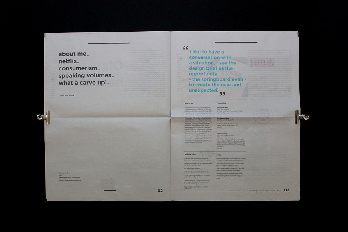 The CV Tabloid - Editorial Design