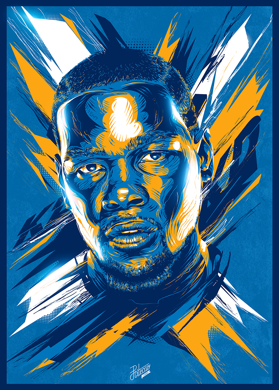 nba vector posters on behance
