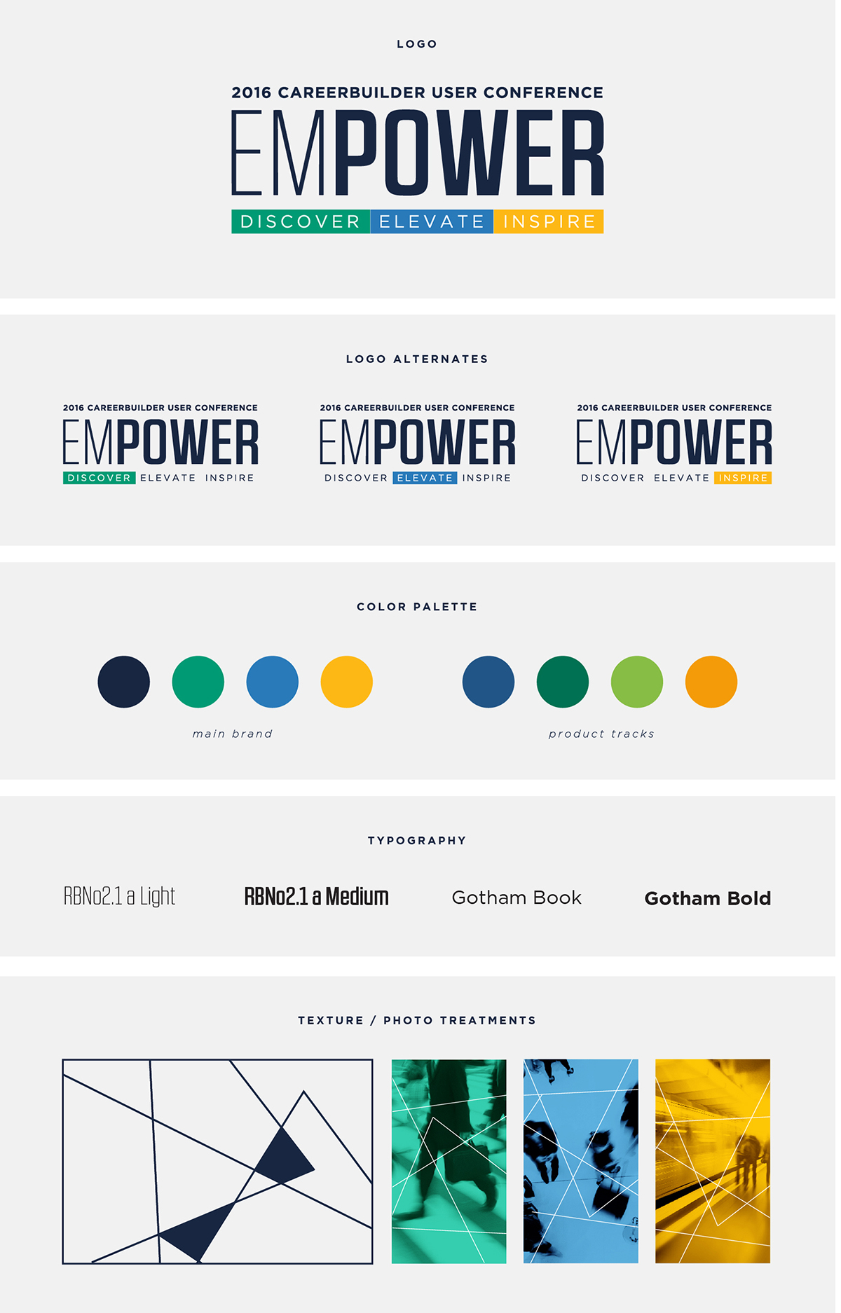 careerbuilder empower branding and event pieces on behance