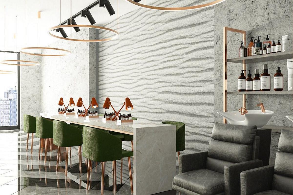 архитектура дизайн интерьера дизайнерское решение салон красоты студия дизайна визуализация