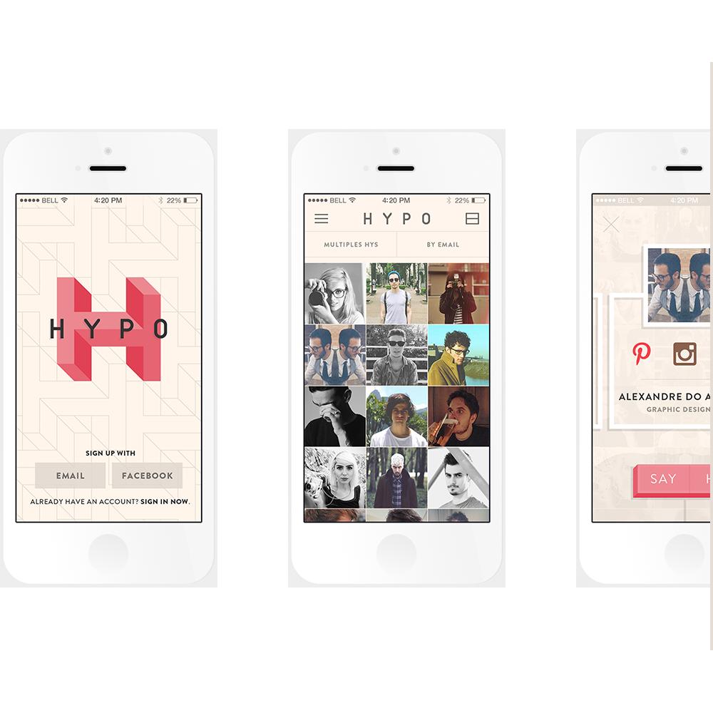 Adobe Portfolio Hypo app application Icon ios iphone apple social network Meet Contacts organize people dowicz marcos zaidowicz