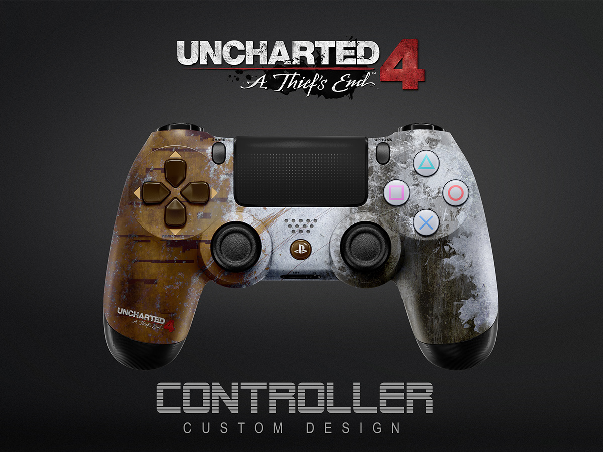 Uncharted 4 Ps4 Controller Design Concept On Behance