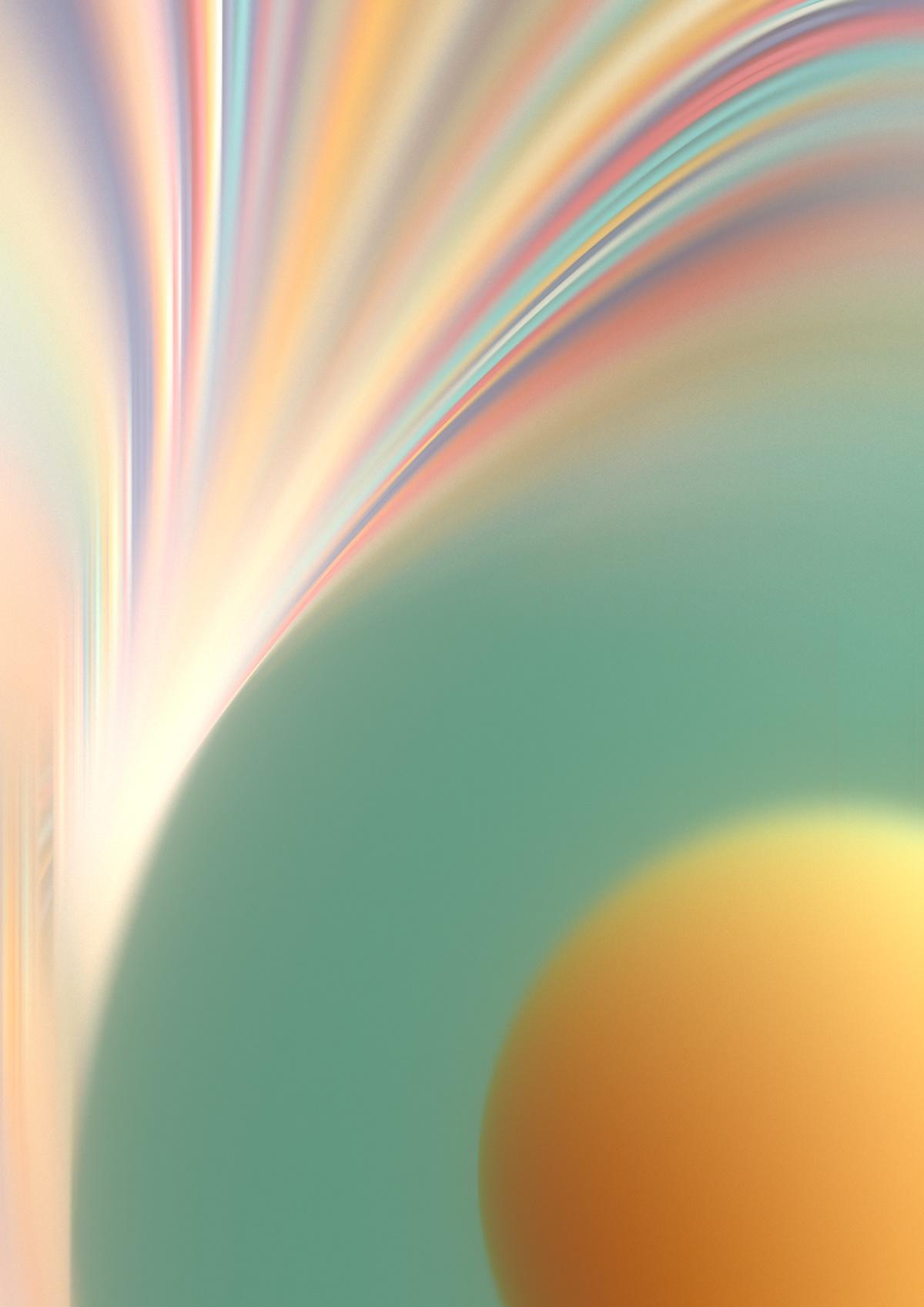 fx 3D geometry lines dof motion blur sphere yellow green