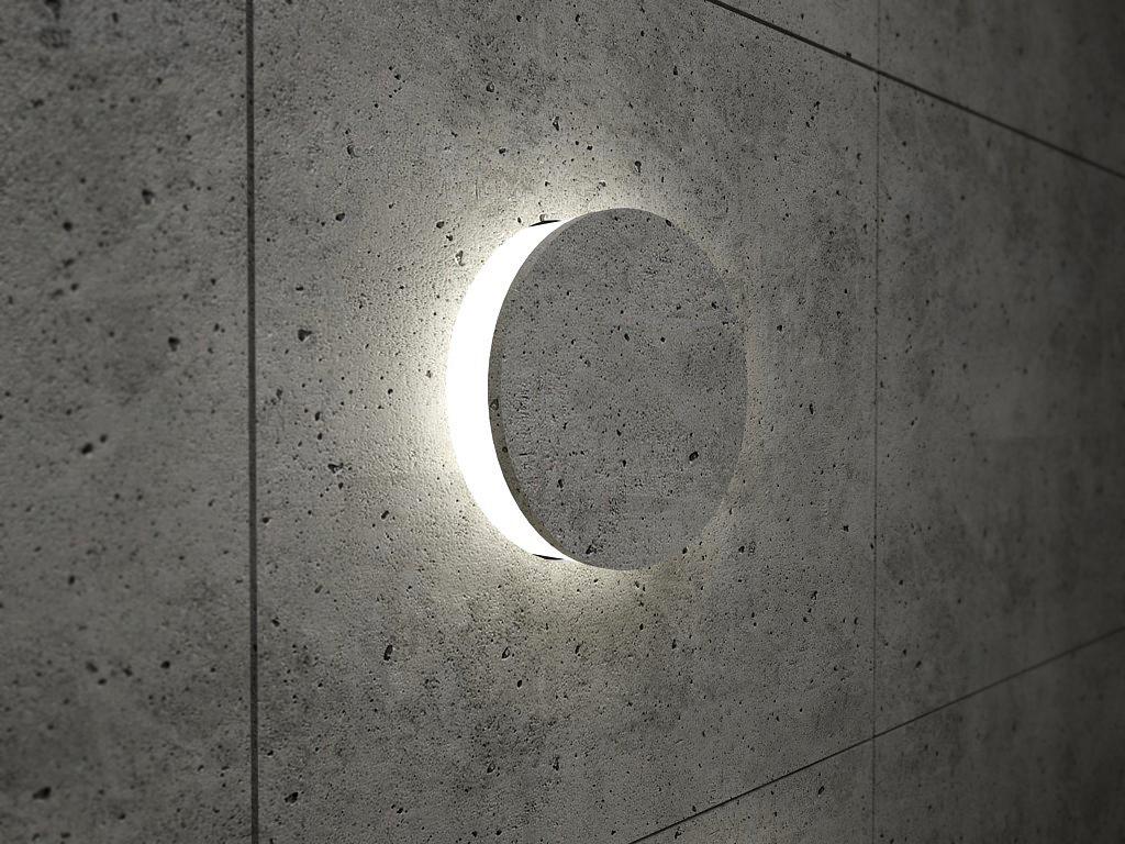 concrete light interior element concept lightning
