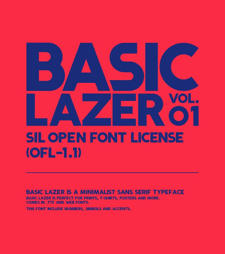 BASIC LAZER - Free Font on Behance