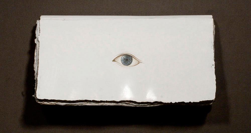 artist's book artbook book SENTENTIA Latin eye eyes sphere package Bookbinding inside-outside watercolor Paper of manual manufacturing