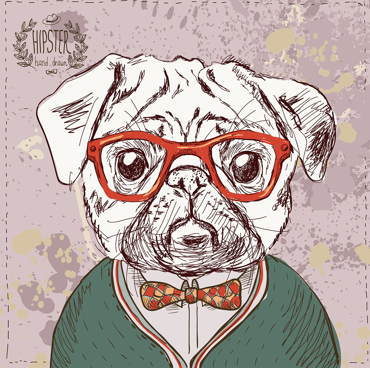 Hipster animals on Behance