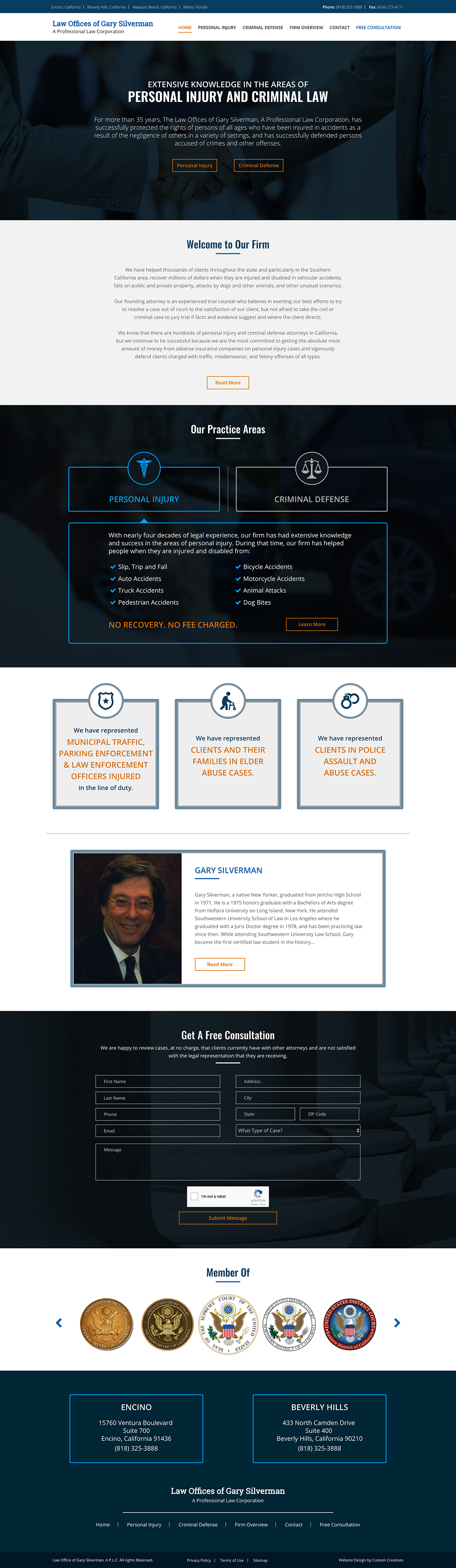 Web Design  web development  wordpress theme attorney website personal injury website