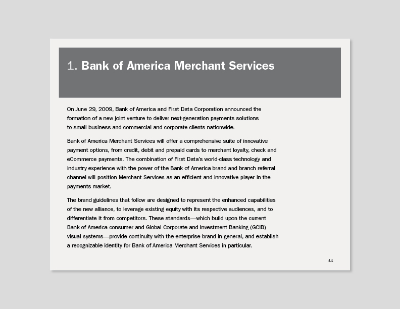 Bank of America Merchant Services Brand Guidelines on Behance