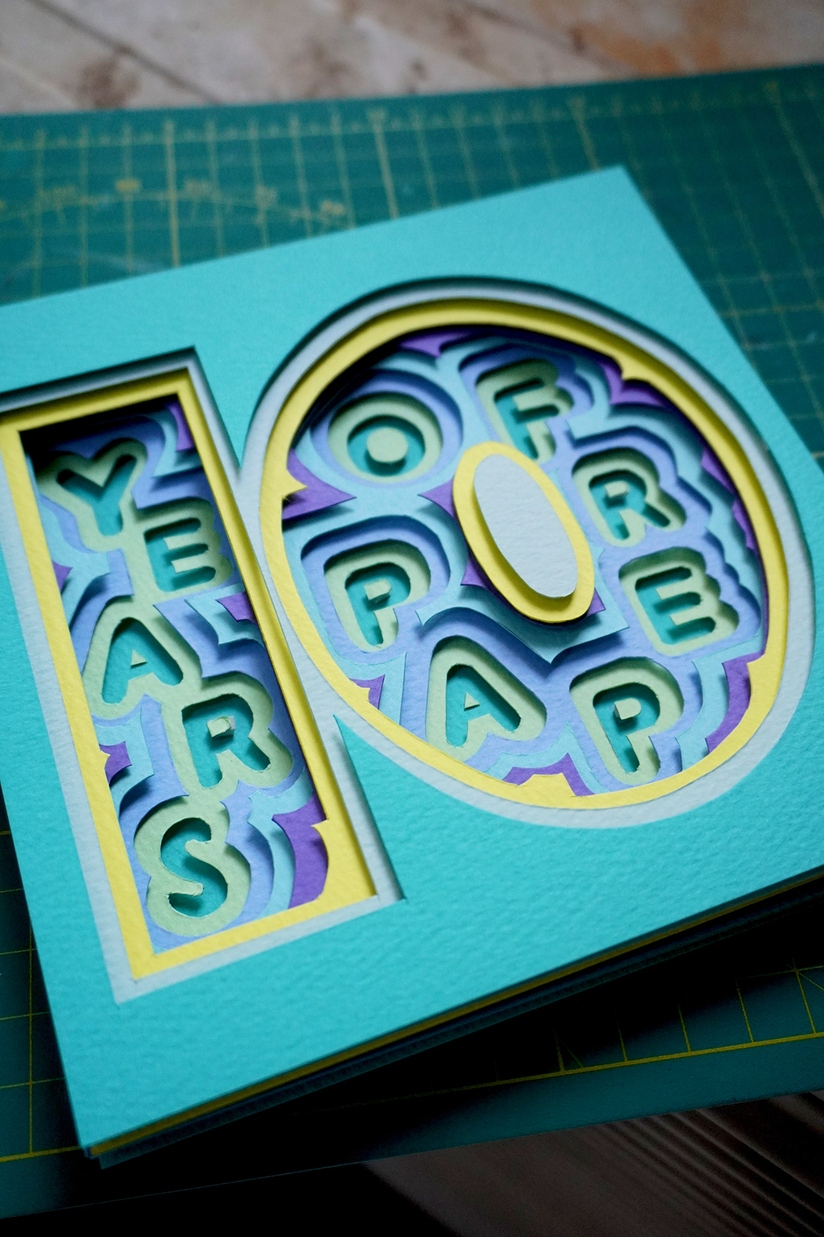 10years craft handmade lettering paper papercraft SabeenaKarnik typography