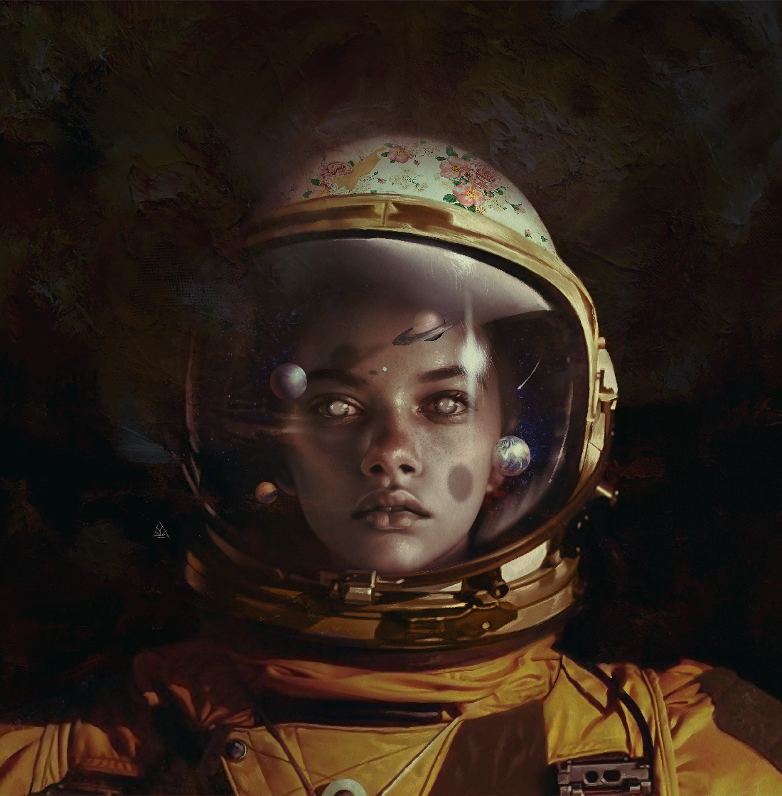 portrait,poster,lover,cosmic,Love,Space ,Planets,wacom