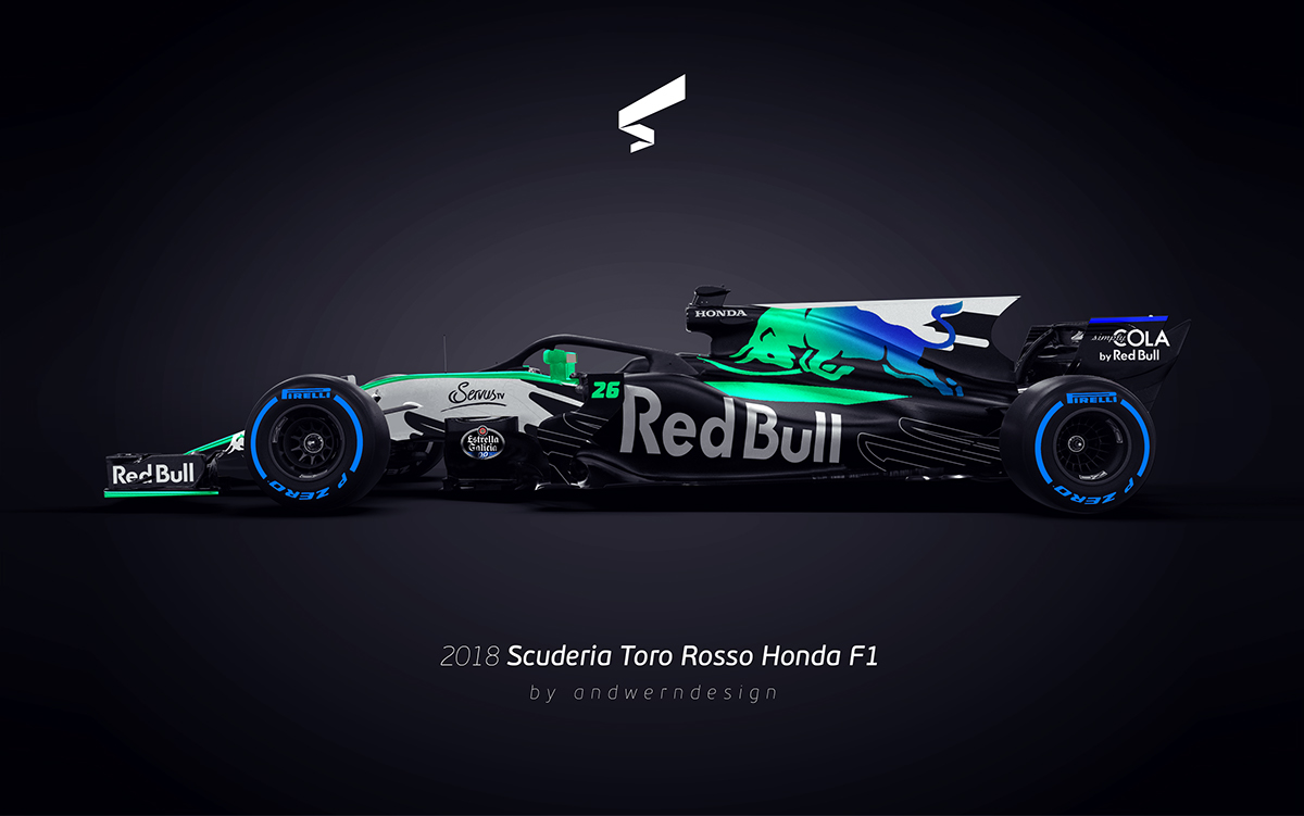 2018 scuderia toro rosso honda f1 on behance. Black Bedroom Furniture Sets. Home Design Ideas