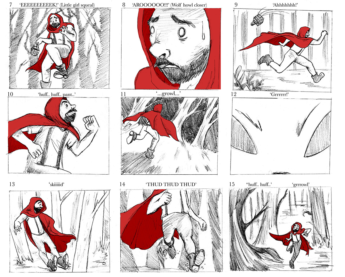 Red Riding Hood Storyboards On Behance