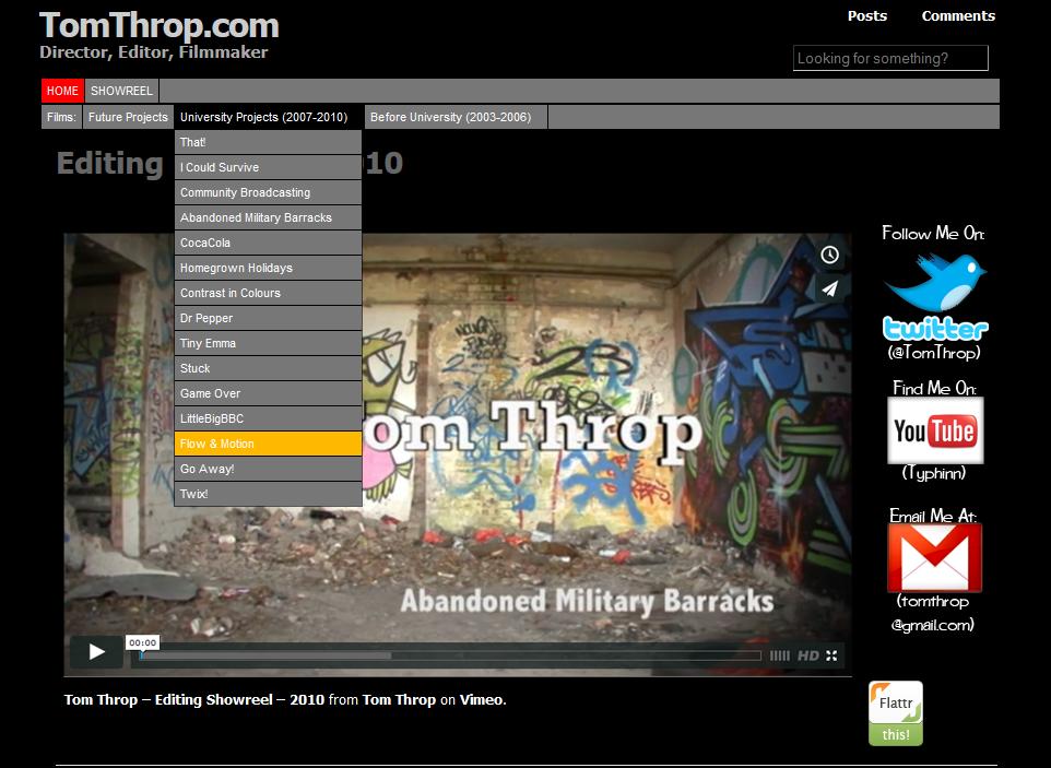 Website portfolio wordpress