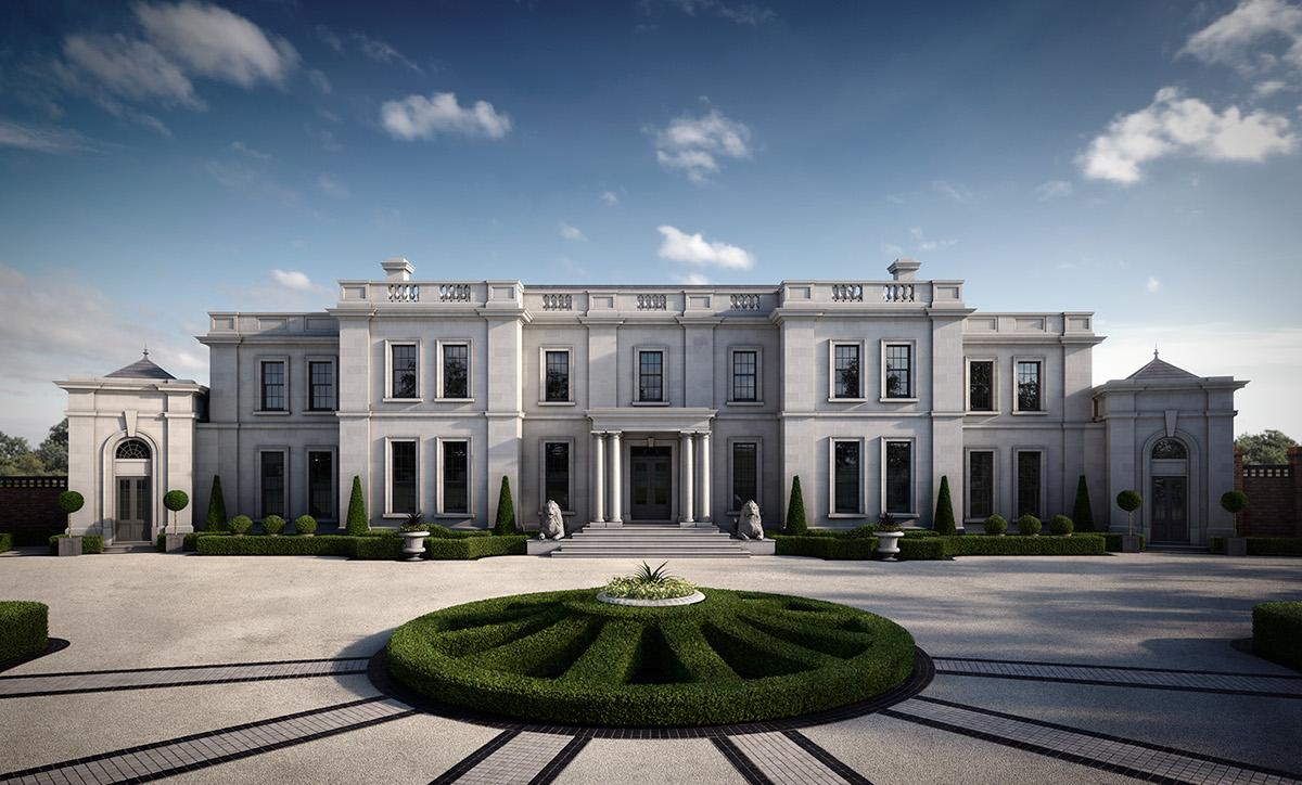 Ballamona Estate CGI - Architectural Visualisation on Behance