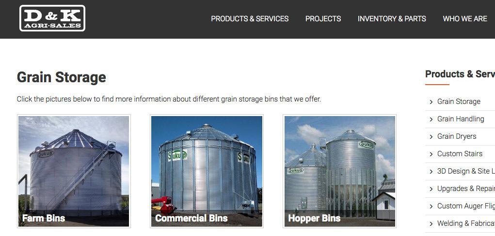 D&K Agri-Sales Website