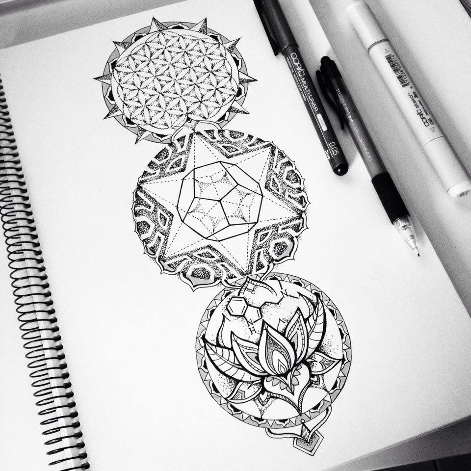 Dotwork Mandala Tattoo Designs