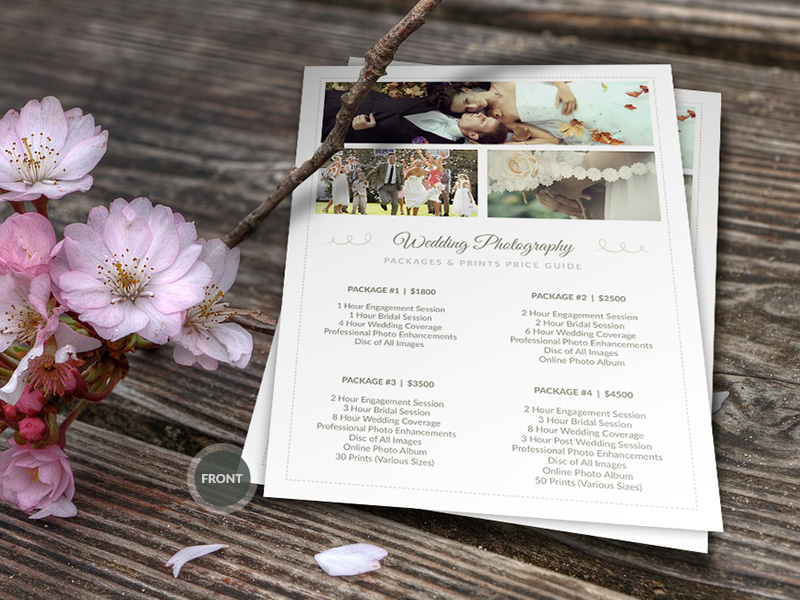 Wedding Photographer Pricing Guide Psd Template V On Behance