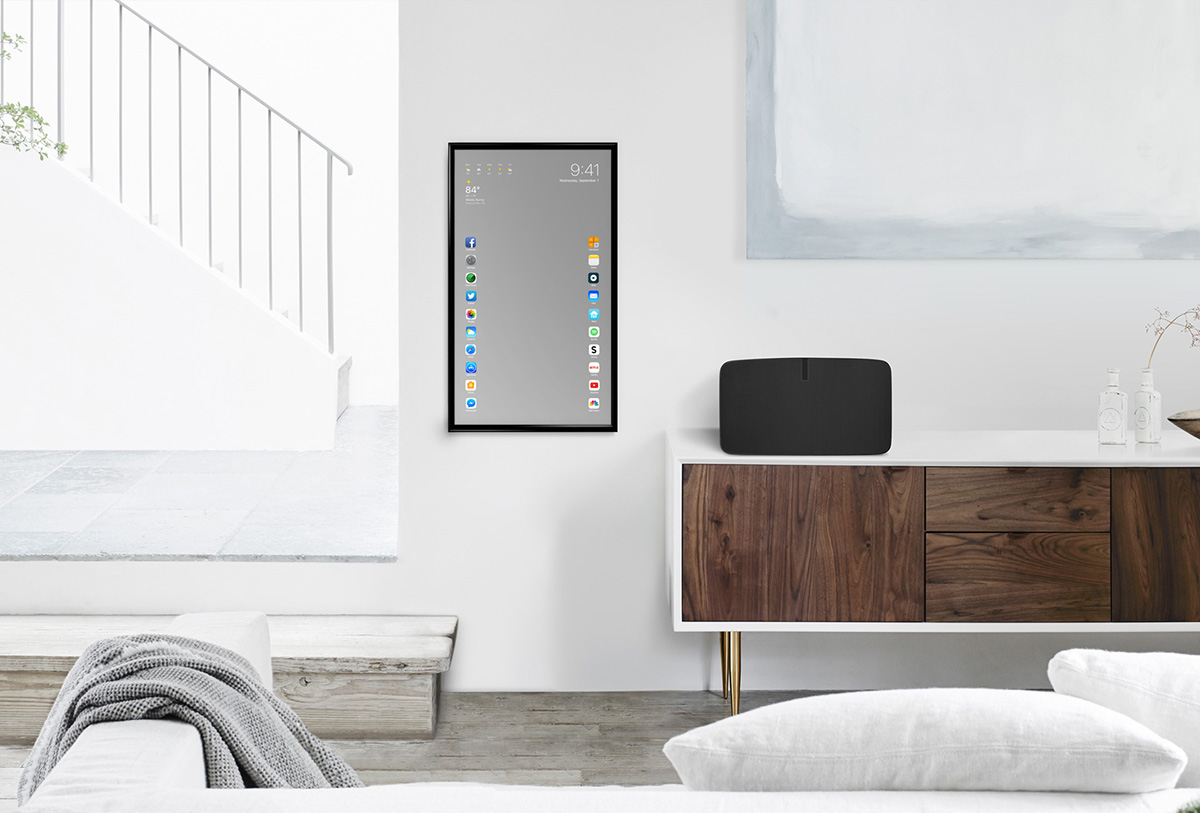 Apple mirror touchscreen mirror functional concept for Mirror design