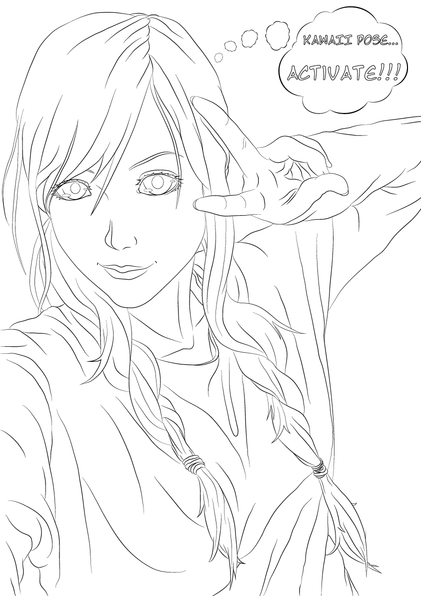 Line Art Characters : Anime line art characters on behance