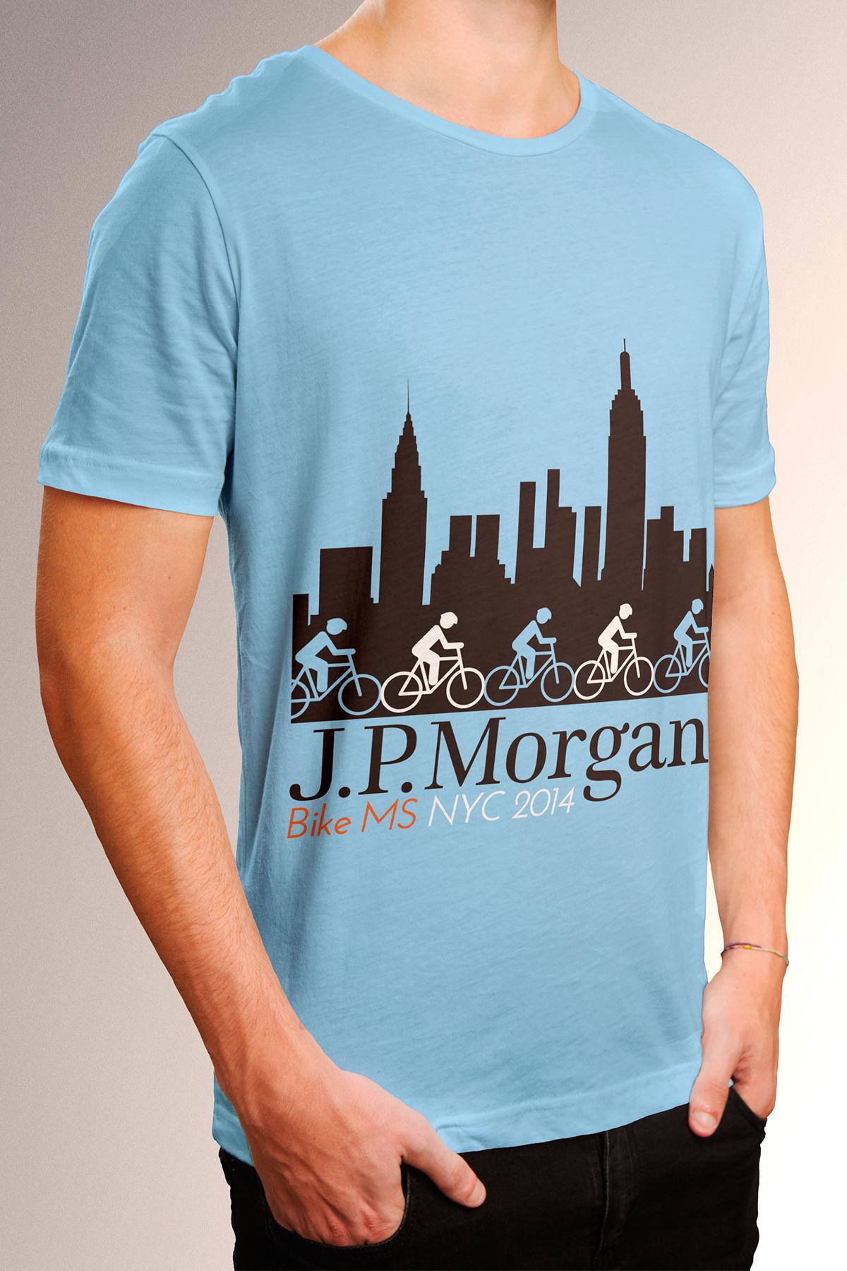 Tee Shirt Design Jp Morgan Chase Bike Ms Corporate On Behance