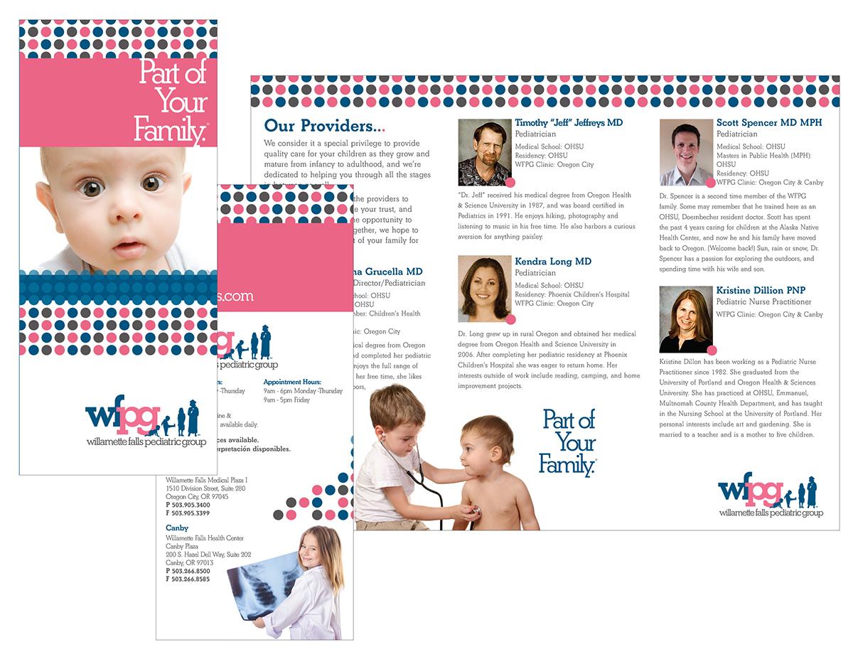 Willamete falls pediatric group on behance clinic brochure altavistaventures Image collections