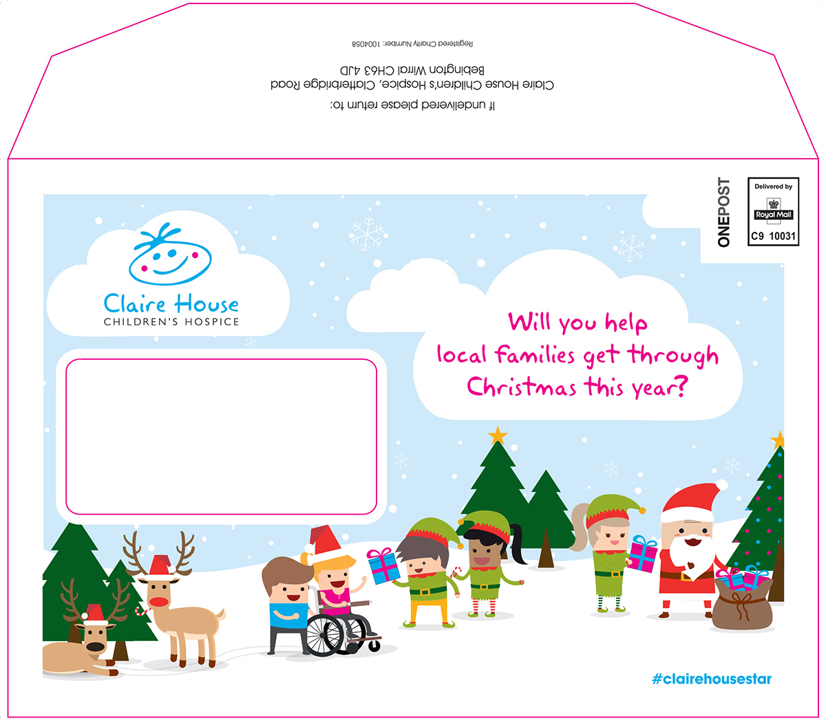 DIRECT MAIL PACK - Claire House Children\'s Hospice on Behance
