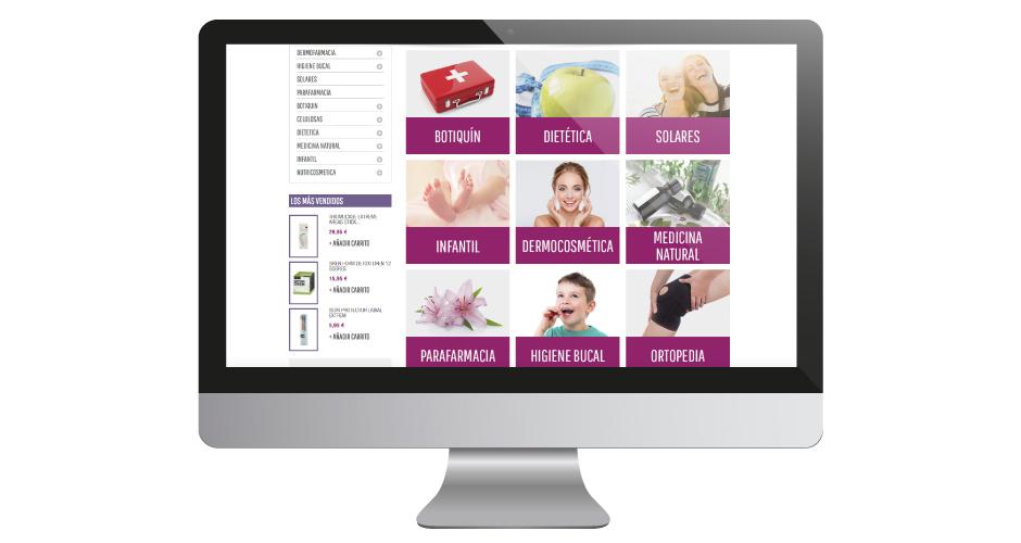 diseño tienda online diseño farmacia Diseño web pharmacy