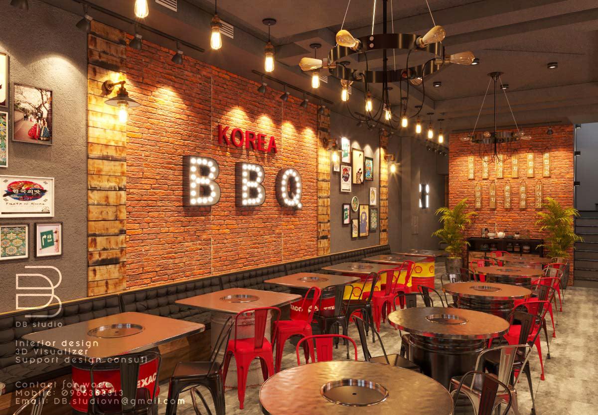 Korean Bbq Restaurant On Behance