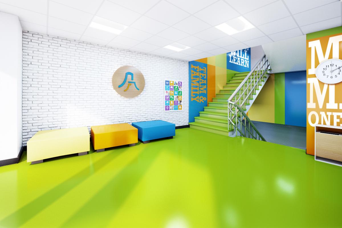ad g zel elementary school lobby ii on behance