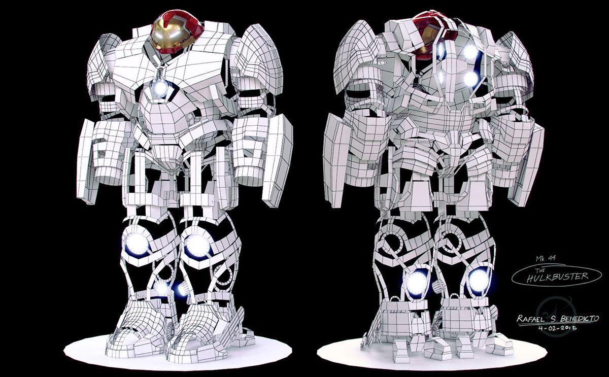 Iron Man Hulkbuster Armor On Behance Iron Man Armor Hulkbuster