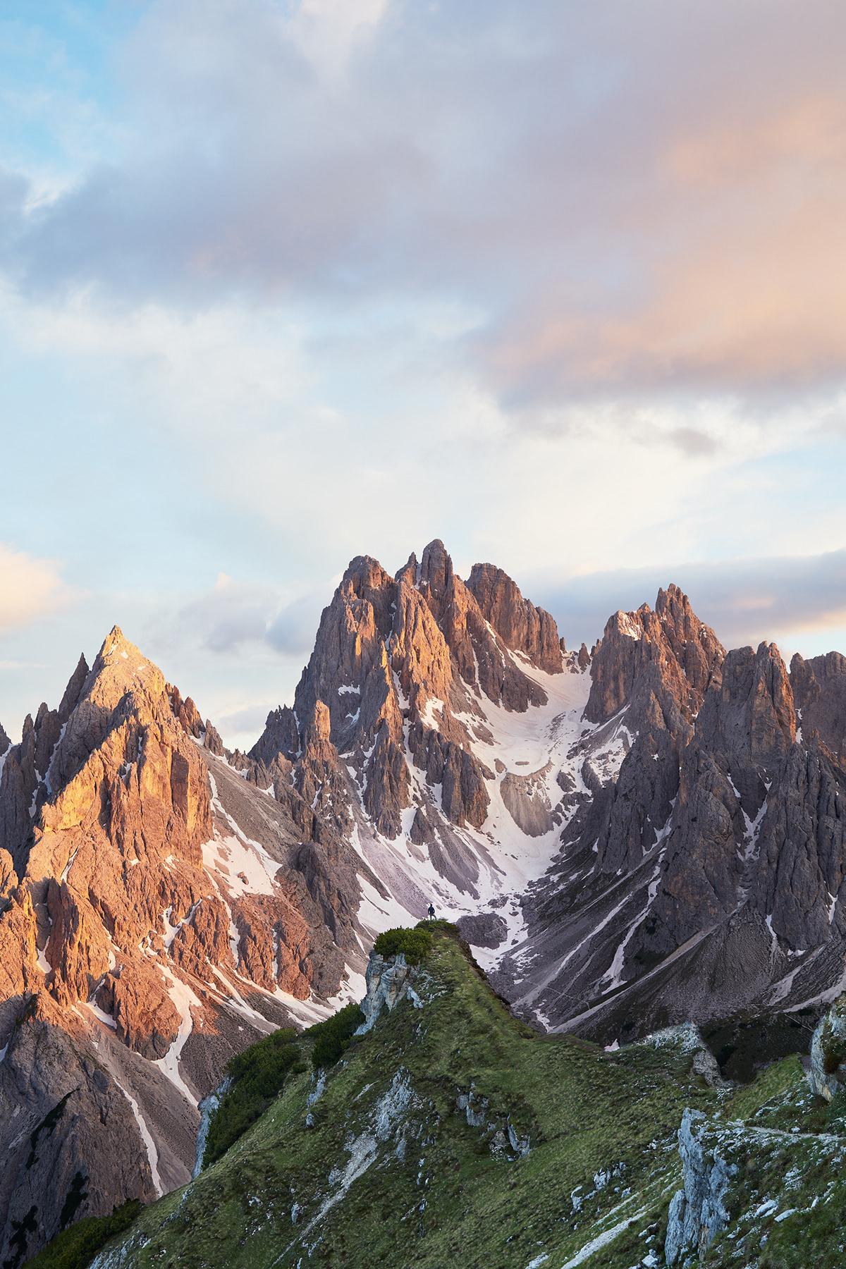 alpen glow alps dolomites Italy milky way mountains nighttime South Tirol stars tre cime
