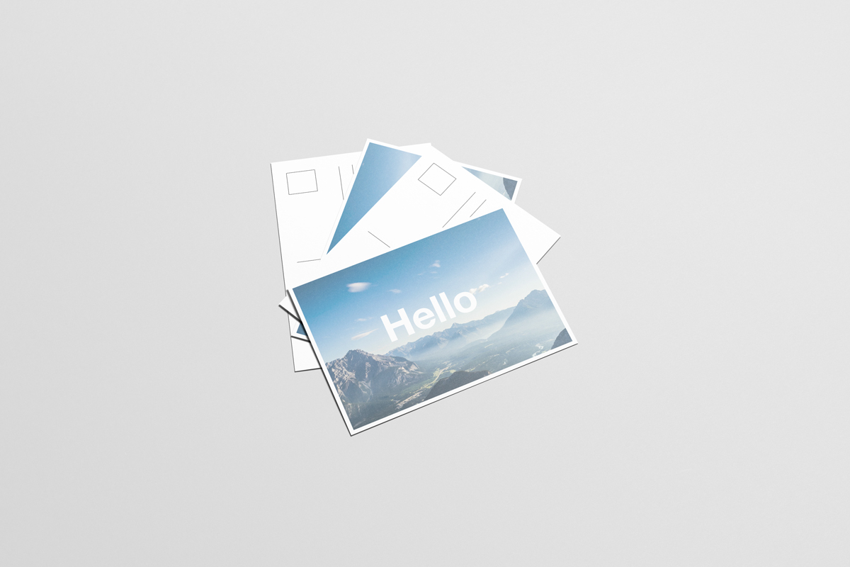 A6 Flyer / Postcard Mock Up On Behance
